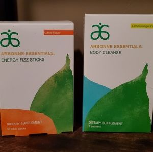 Arbonne Fizz sticks and Body Cleanse